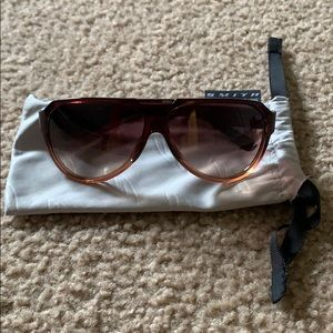 Smith Optics Brown and Maroon Aviator Sunglassses